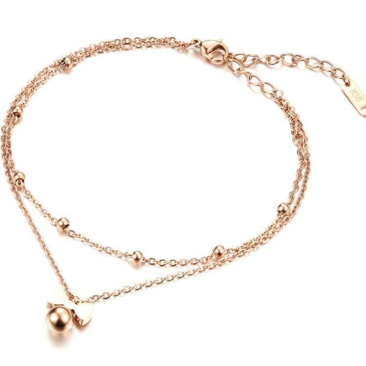 Newest Fashion Stainless Steel Beaded Ankle BraceletFor Women Foot Chain Costume Jewelry Anklets
