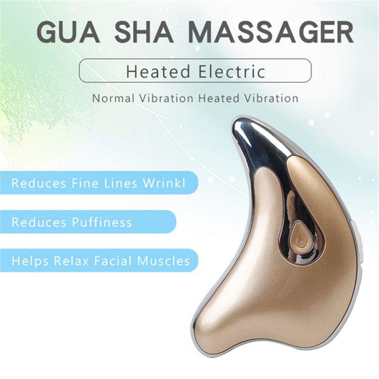 전기 진동 마사지 페이셜 케어 Guasha 도구 스크래핑 얼굴 V 모양의 얼굴 피부 리프팅 안티 링클 기계