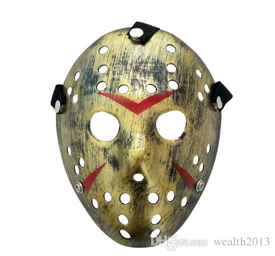 Yetişkinler için maskeler Masquerade Jason Voorhees Kafatası Paintball 13. Korku Filmi Korkunç Cadılar Bayramı Kostüm Cosplay Festivali Parti Maskesi Maske