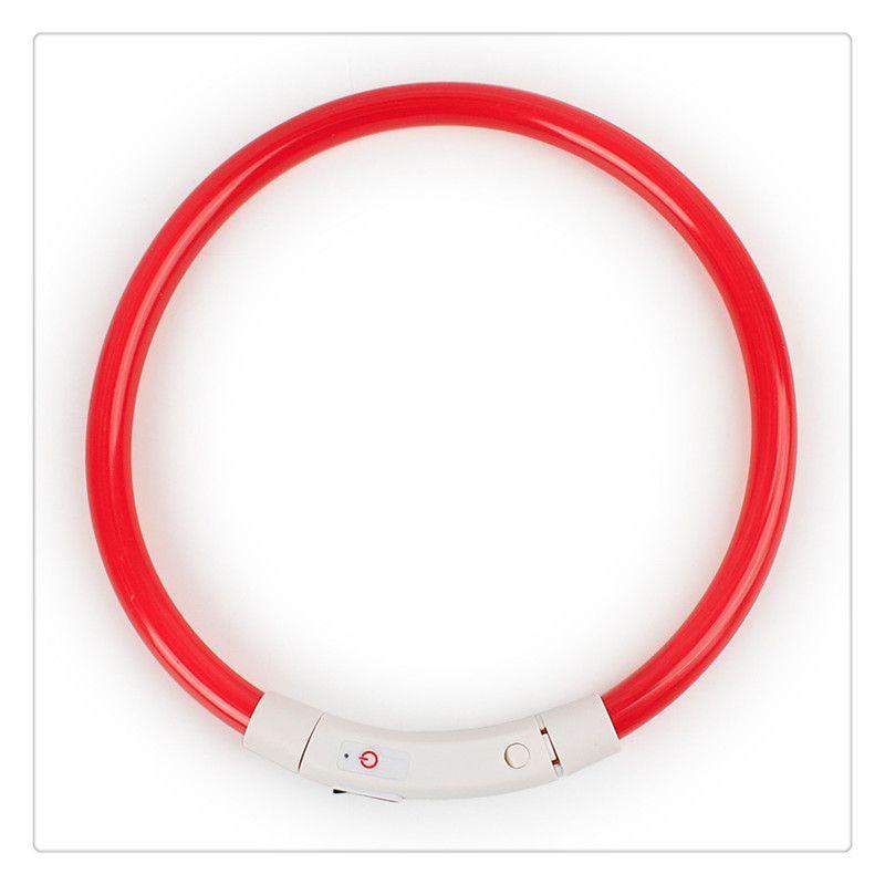 LED Hundehalsband USB Wiederaufladbar Wasserdicht Leuchthalsband Nacht Sicherheit Leuchtende Haustierhalsbänder für kleine, mittelgroße, große Hunde
