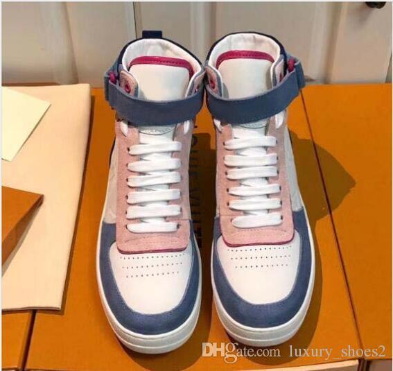 High Top Sneakers Rivoli Boot Hommes Femmes Athletic Mode de luxe de sport Chaussures Baskets Classique Imprimé Casual Y8 Sneaker en cuir