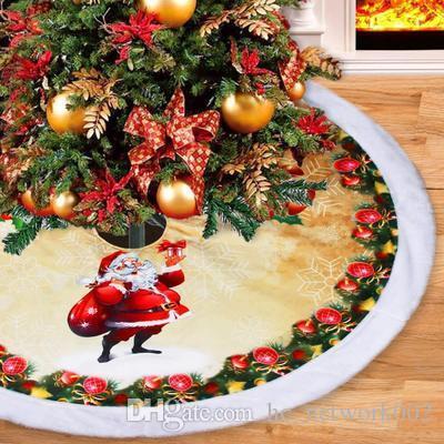 décoratif fond jupe noël jupe arbre arbre de Noël 98cm d'épaisseur flanelle de haute qualité pour la décoration de Noël
