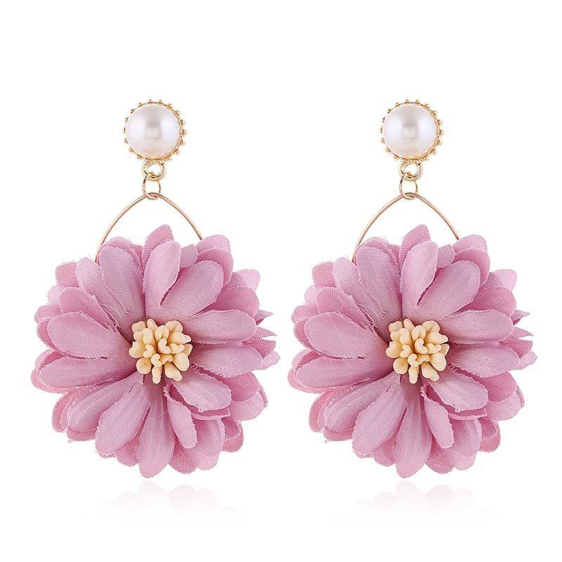 Boemia degli orecchini dei monili per le donne di fiori orecchini di dichiarazione del 2020 lungo l'orecchino di goccia colorati monili orecchini di moda