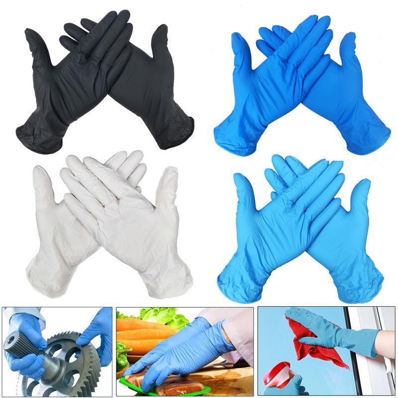 Gants jetables Latex universel Cuisine / Dishwashin / Travail / caoutchouc / Gants Jardin gauche et droite à la main 4 couleurs