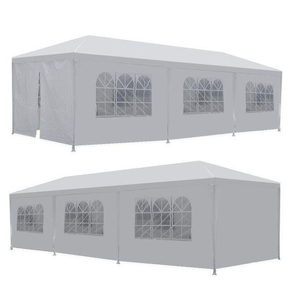 سفينة من الولايات المتحدة الأمريكية 10 '× 30' 8 الجانبين 2 الأبواب حزب حفل زفاف في الهواء الطلق الفناء خيمة مظلة الثقيلة غازبو جناح الحدث
