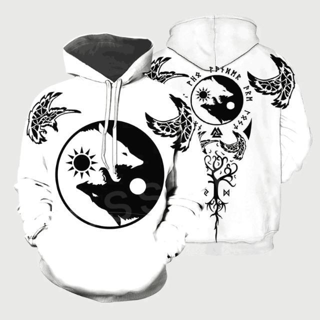Símbolo do tatuagem guerreiros NewFashion pulôver 3DPrint Casual engraçado Unisex Zip / Sweatshirts / Hoodies / revestimento A-2