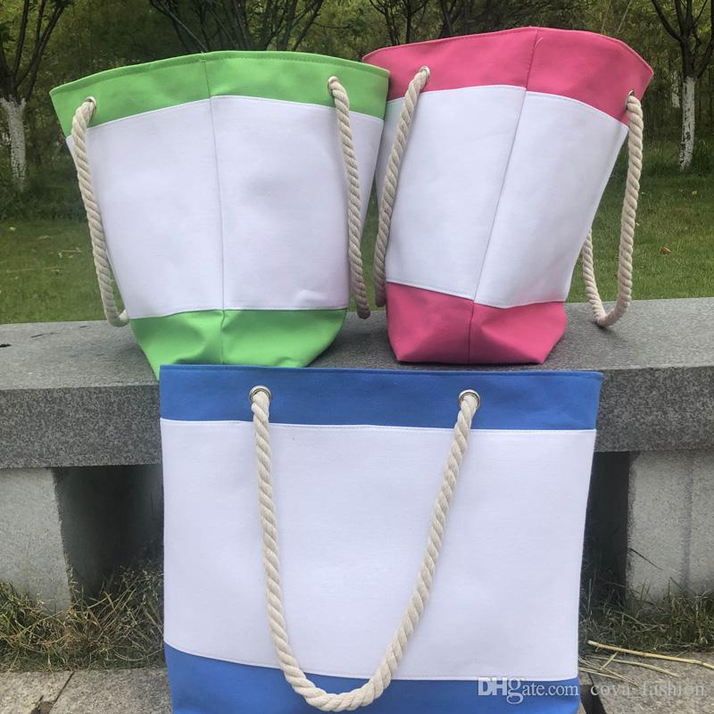 3 colori Shopping Canvas Beach Signora Borsa Inside a mano Tote Donne Strips Borsa Borse Fodera con grande schema di mummia stoccaggio KDefu