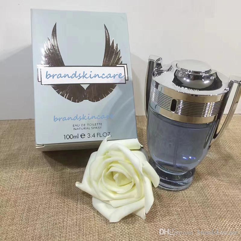 Marca Man Invctus Perfume 100ml Colônia Água para homens Eau De Toilette Natural spray líquido de 3,4 oz 100ml incenso fragrância boa qualidade.