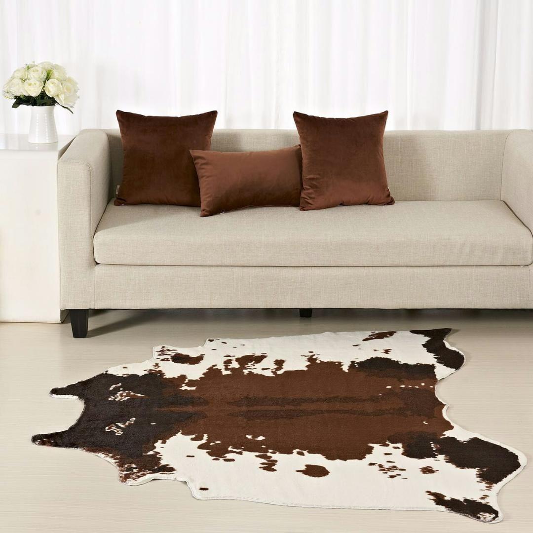 Brown Cowhide Rug Zebra Carpet Creative 150 130 Cm Home Decoration Faux Skin Mat For Living Room Bedroom Carpets Carpets N Carpets Carpeting Companies