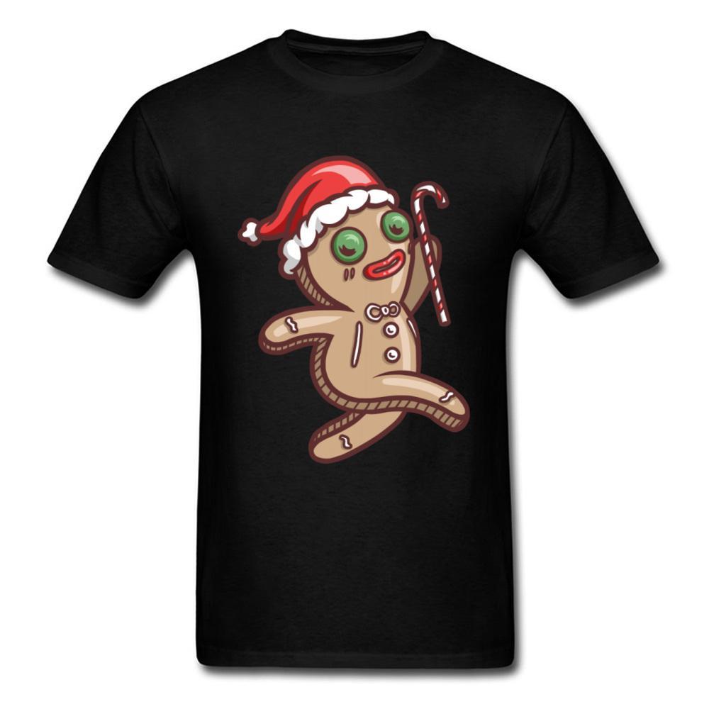 Gingerbread Man T-shirt drôle de Noël Père Noël Impression T-shirts Tops ras du cou coton à manches courtes T-shirts Hommes d'été TShirt