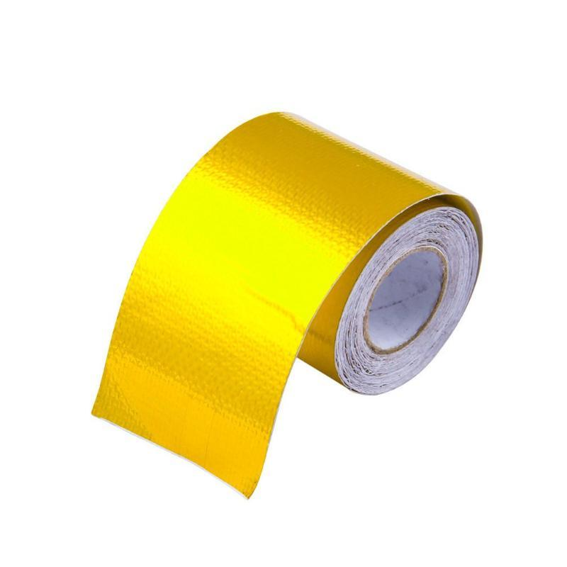 Gold aluminum foil tape High temperature resistant aluminum foil fiber cloth for exhaust pipe range hood industry