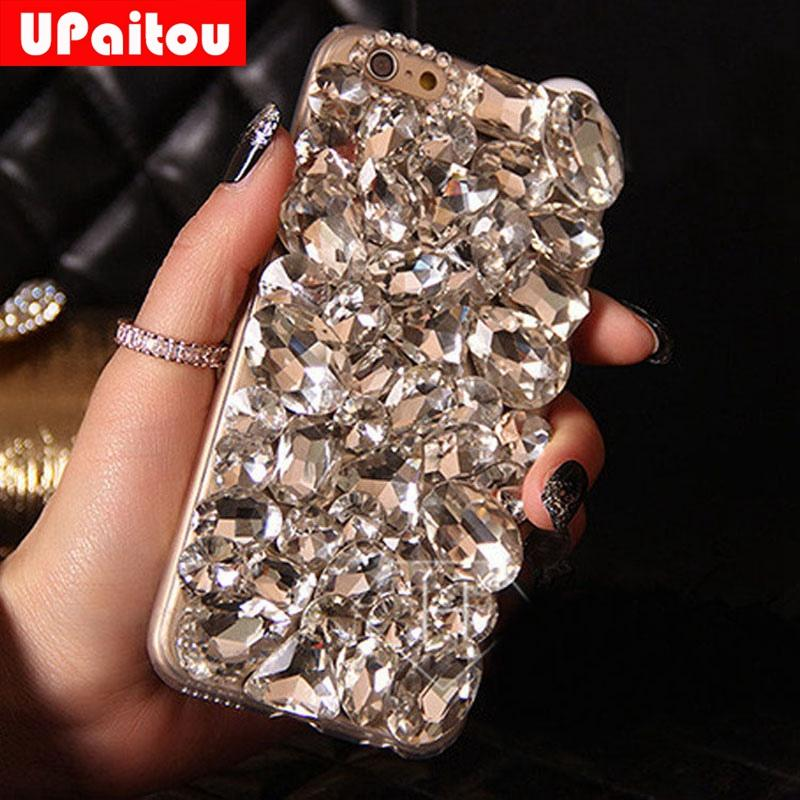 wholesale DIY 3D Luxury Bling Crystal Rhinestone Back Case for Samsung Galaxy S8 S5 S6 S7 Edge Plus Note 4 5 Diamond Case Cover