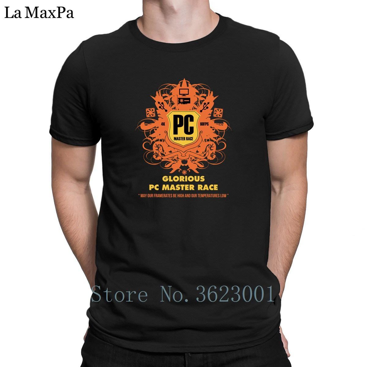 Carácter Delgado Camiseta para hombre Pc Maestro Tee Raza camiseta 100% algodón Hip Hop Camiseta para los hombres hilarante Hombres camiseta unisex Mejor