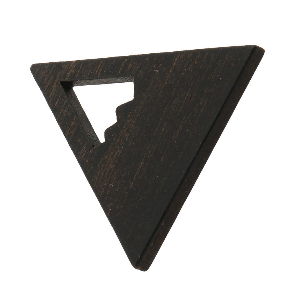 1piece DIY joyería marco de madera colgante de madera fabricación de moldes de moldeo Crafts 26x23x2.5mm
