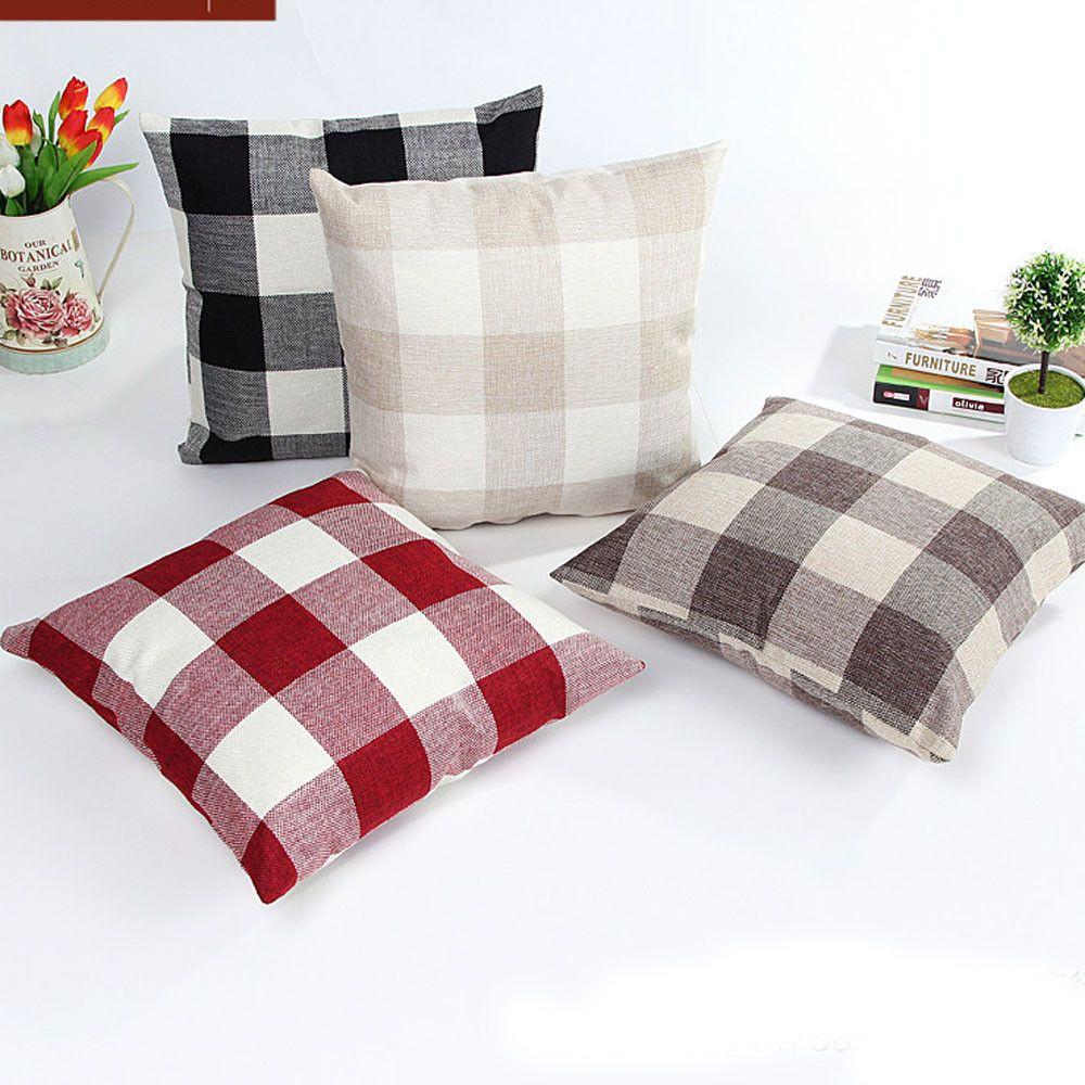 Outstanding New Cushion Cover Linen Pillow Case Plaid Lattice Sofa Bed Home Decor Pillow Case Cushion Cover For Sofa Ay002 Outdoor Patio Cushion Covers Spotlight Pdpeps Interior Chair Design Pdpepsorg