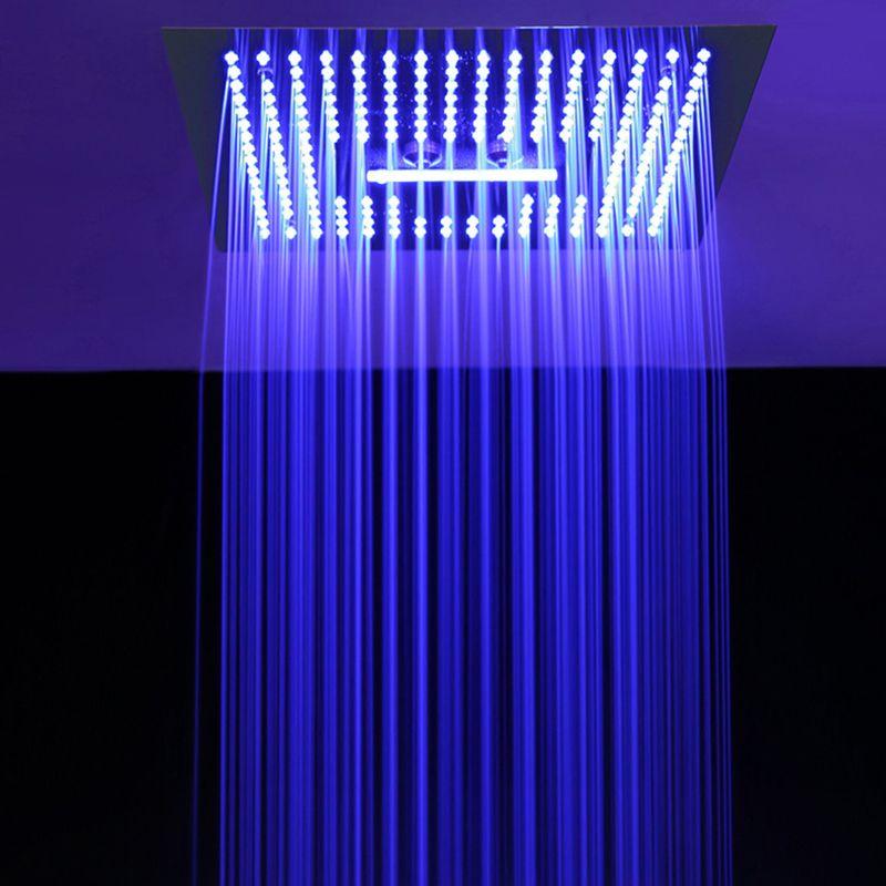 화려한 원격 LED 빛 샤워 헤드 (304) SUS 강우 폭포 샤워 화장실의 갯수 안개 스프레이 천장 샤워기 블랙 골든 샤워