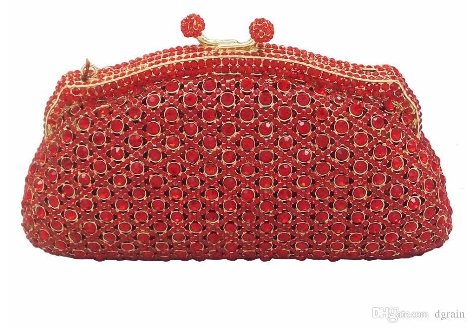 Dgrain Frauen Luxus Aushöhlen Abendtasche Multicolor Große Steine Kristall Strass Diamant Hochzeit Clutch Handtasche