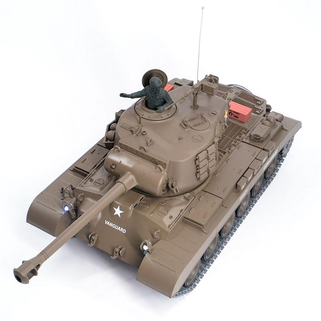 01:16 américain Pershing M26 lourd réservoir 2.4G à distance avec le modèle de contrôle du réservoir militaire Effet sonore Fumée Prise de vue de base / réaménagées