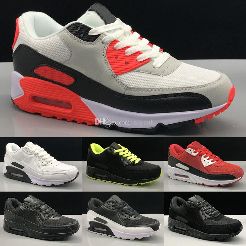 2020 New Black White Sneakers Classic 90 Mens Outdoor Running Shoes For Women Sports Men Trainers Brand 90s Chaussures