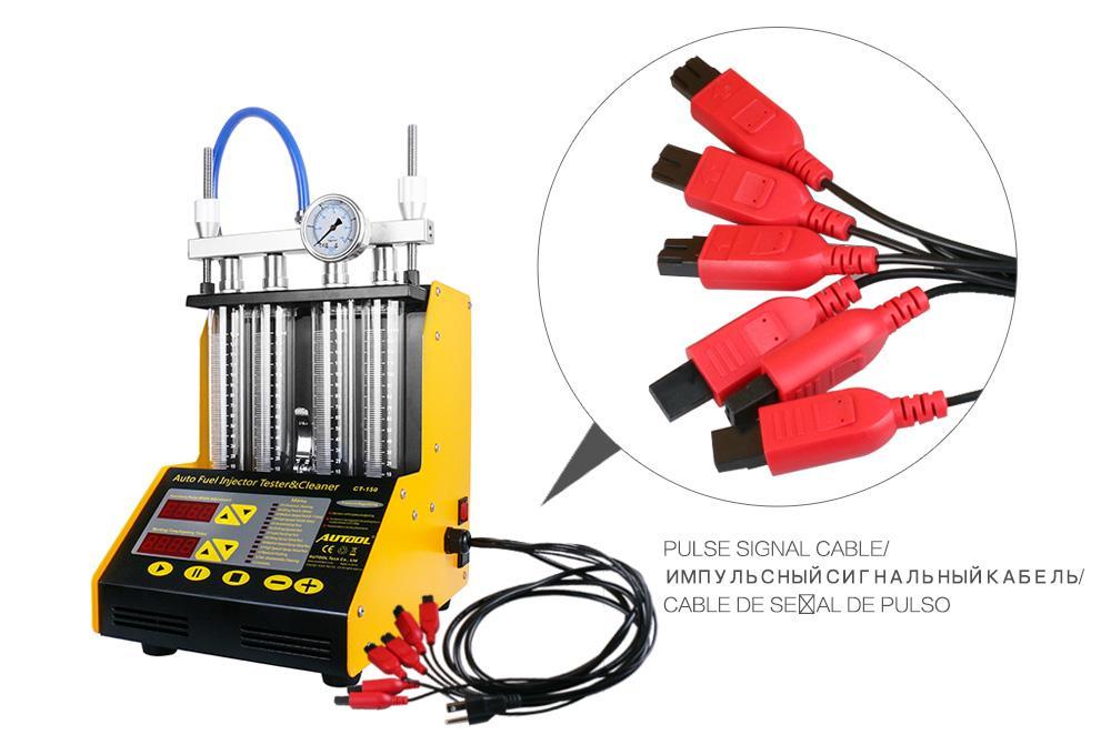 AUTOOL CT150 Auto-Injektor-Prüfvorrichtung Ultraschallreinigung Auto Fuel Injectors-Reinigungsmittel für Fahrzeugreparatur 4 Zylinder-Diagnosewerkzeug