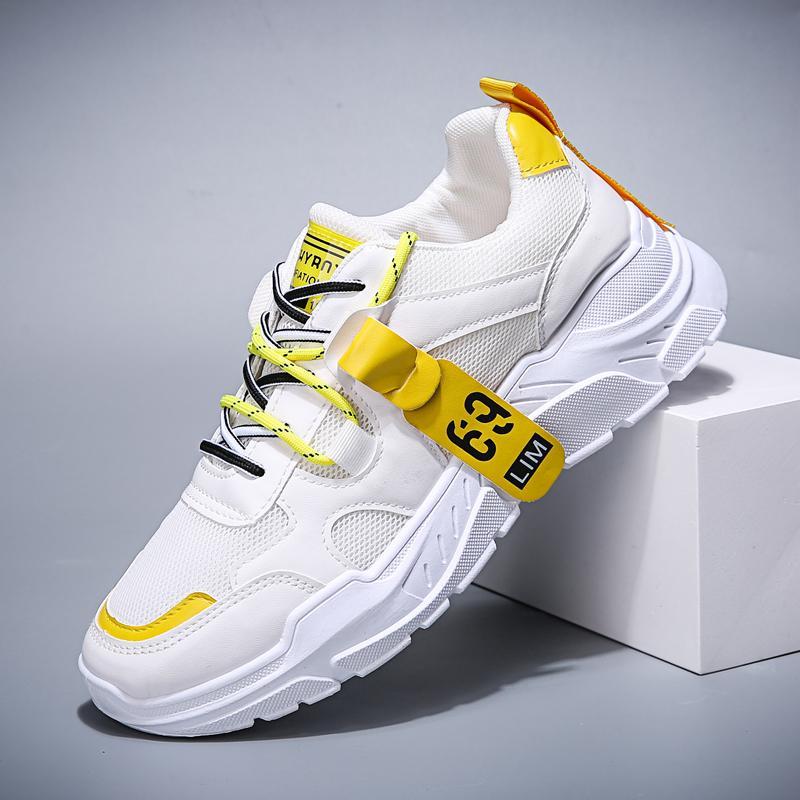 BIGFRISE Hombres Zapatos casuales Marca transpirable Hombre ligero Zapatillas de deporte Otoño Grueso BottomTrend Zapatos planos Zapatos Hombre 39-44
