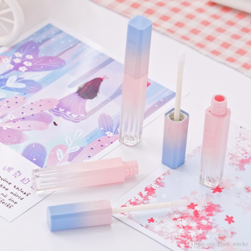 Vazio Tubo Lip Gloss rosa azul do inclinação Lip Glaze tubo DIY Batom Cosmética Embalagem 50pcs contentores / lot