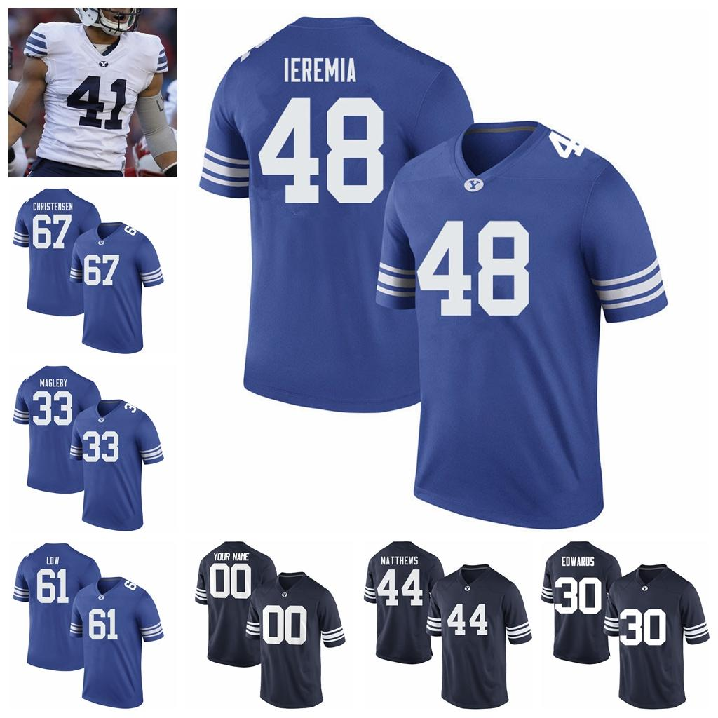 BYU Cougars Maillots Talon Hommes Shumway Jersey Aleva Hifo Gunner Romney Steve Young Micah Simon College Football chandails personnalisés Cousu