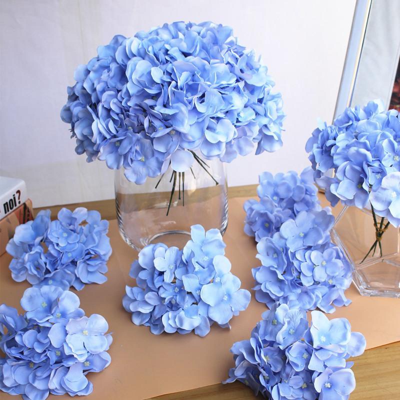 Bonita flor decorativa de hortensia artificial de 30 cm / lote 15 cm para la flor de simulación del banquete de boda para el hogar Decoración de flores de bricolaje