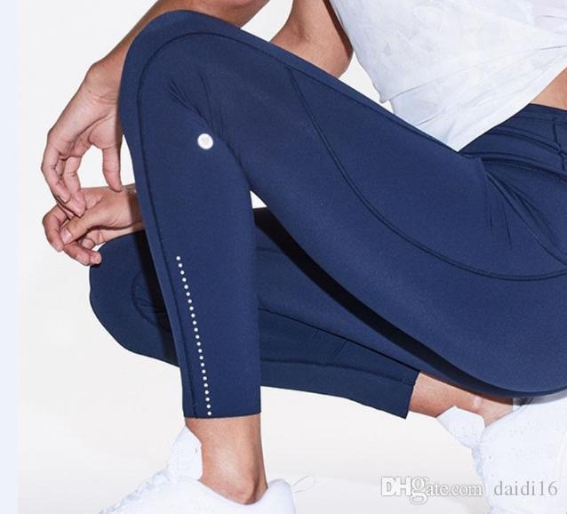 LU-9 Porter Fitness Filles Marque Leggings Pantalons course pour homme femmes Yoga Tenues de sport pour femmes Plein Leggings Pantalons de yoga serré