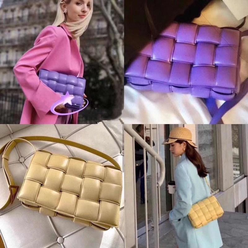 Sac à main Les sacs à bandoulière 2019 femmes de tempérament de loisirs de Sac bandoulière plissé Plaid tissé coussin en cuir de vache