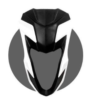 Motosiklet Ridea Moto Fit MSX125 Rüzgar korumaları Cam Modifikasyon Beyaz