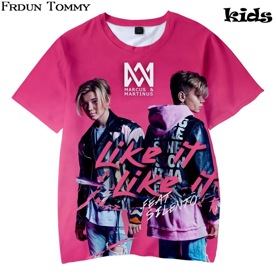 3d crianças verão t-shirt marcus e martinus gola redonda macia t-shirt kpop casuais lazer crianças roupas moda worsted y19050701