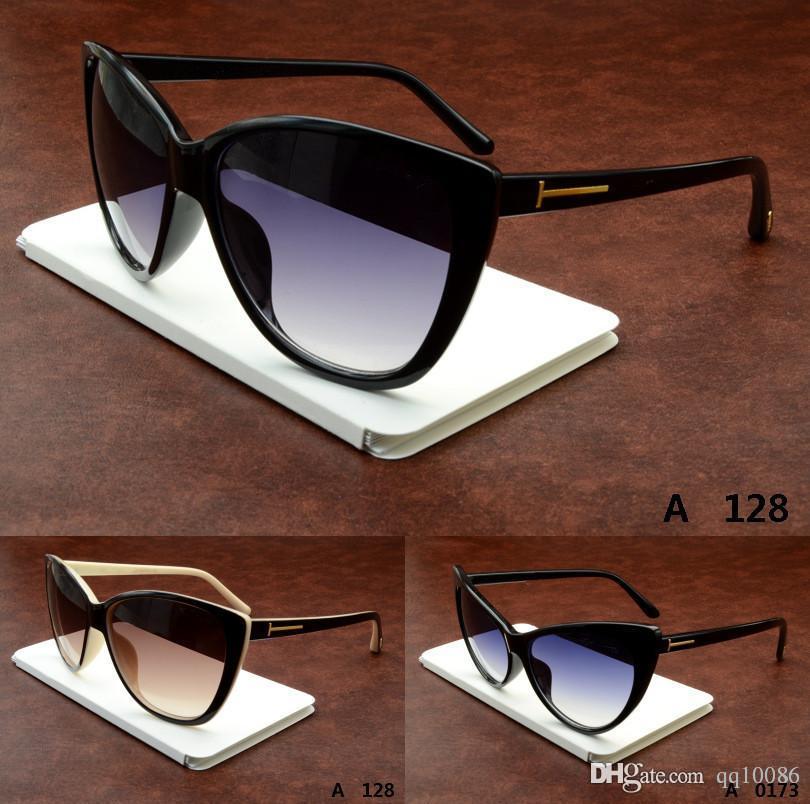 Marca envío libre del verano para hombre o para mujer gafas de sol de marco redondo anteojos clásico de la vendimia marco grueso gafas de ojo de gato gafas más baratas