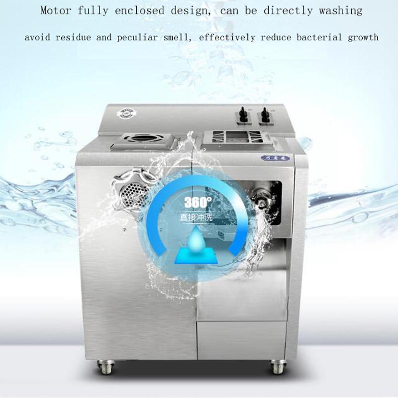Büyük Ticari Et Dilimleme Makinası Dikey tip Et Dilimleme Kıyma Electric2200W satmak için Makine Büyük Güç Kesme yemek