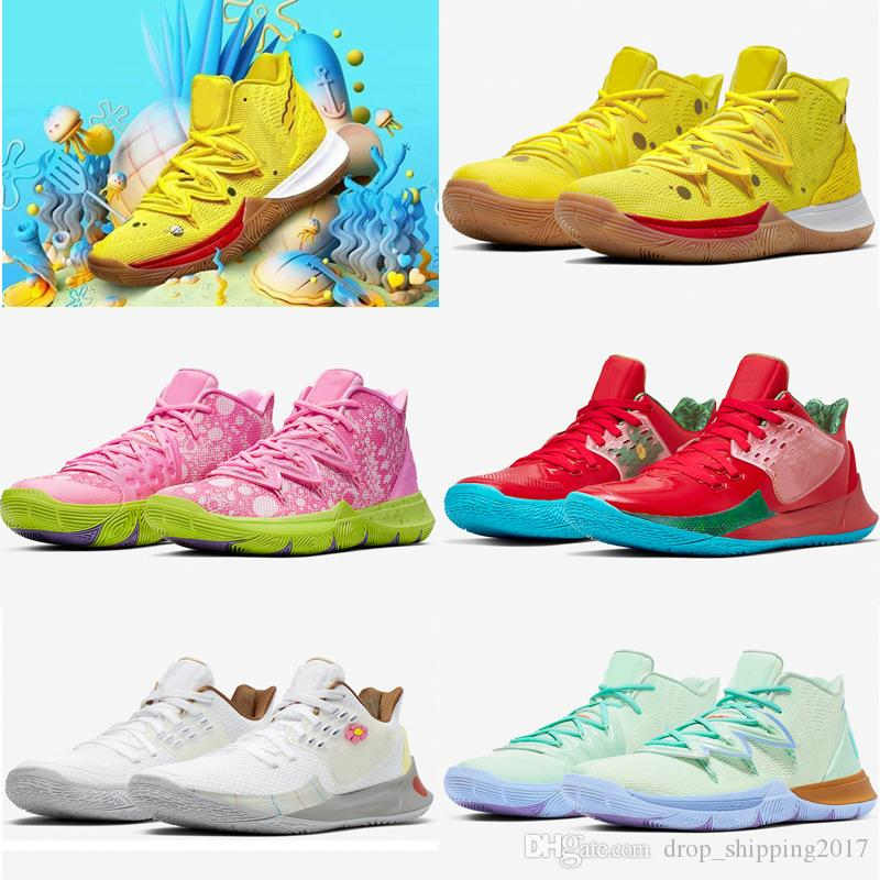 2020 وصول جديد مصمم ستار Kyrie 5 أحذية كرة السلة العملية صفراء أحذية الرجال الرياضة في الهواء الطلق الاحذية أحذية رياضية أعلى جودة عداء