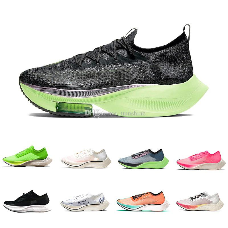 Stock X Nike Zoomx Alphafly Lime Blast VaporFly NEXT% Mens Running shoes Ekiden Valerian Blue Ribbon Sail zoom Men Women Outdoor Sports Designer sneakers