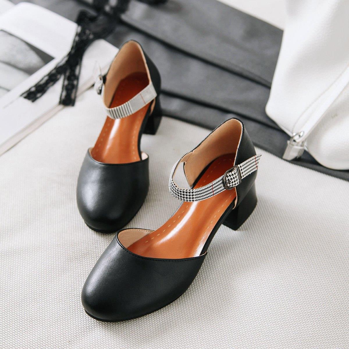 Fairy2019 Ferrolho Cabeça Jiyuan Mais Recente Moda Sandálias Com Sapato Único Tamanho das Mulheres Sapatos Lugar De Origem