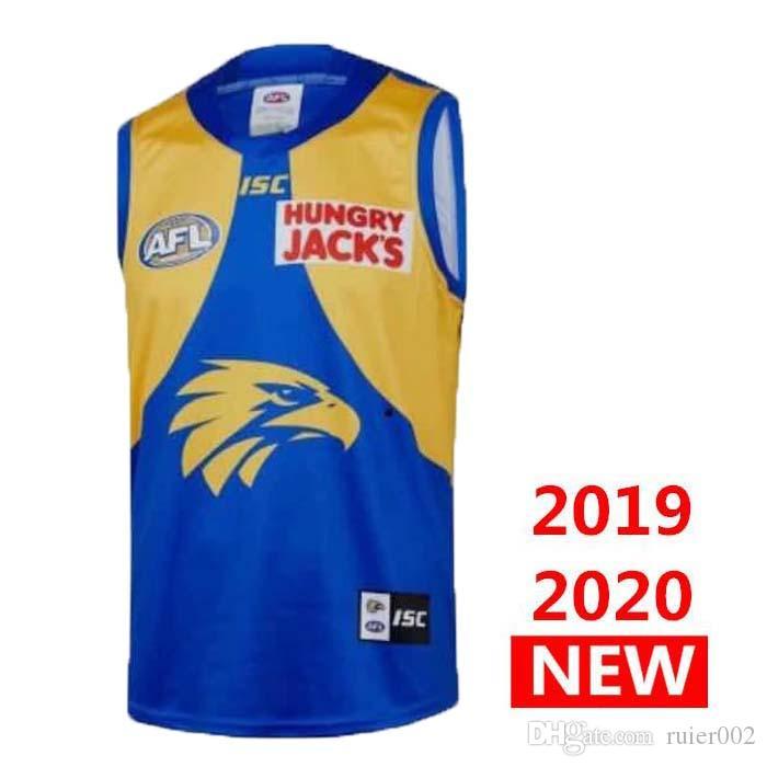 neue 2019 2020 Westküste Adler HOME Rugby Trikots AFL Westküste Adler Trikot Unterhemd Liga Hemd Weste s-3xl