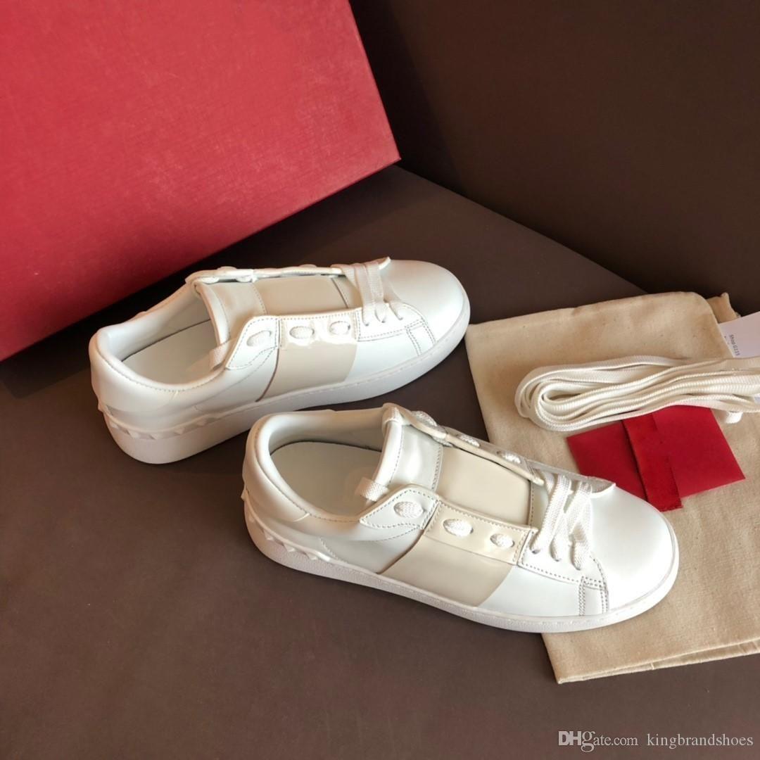design de luxe de style classique amants nus blanc chaussures de sport chaussures de sport à la mode classique pour hommes confortables chaussures femmes