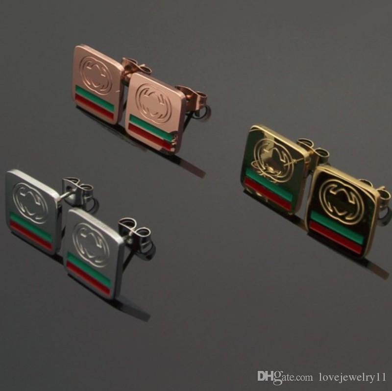 Hot-venda designer de luxo S925 agulha de prata Brincos Moda personalidade hip-hop exagerada drill-incrustada conjunto retangular de brincos ful
