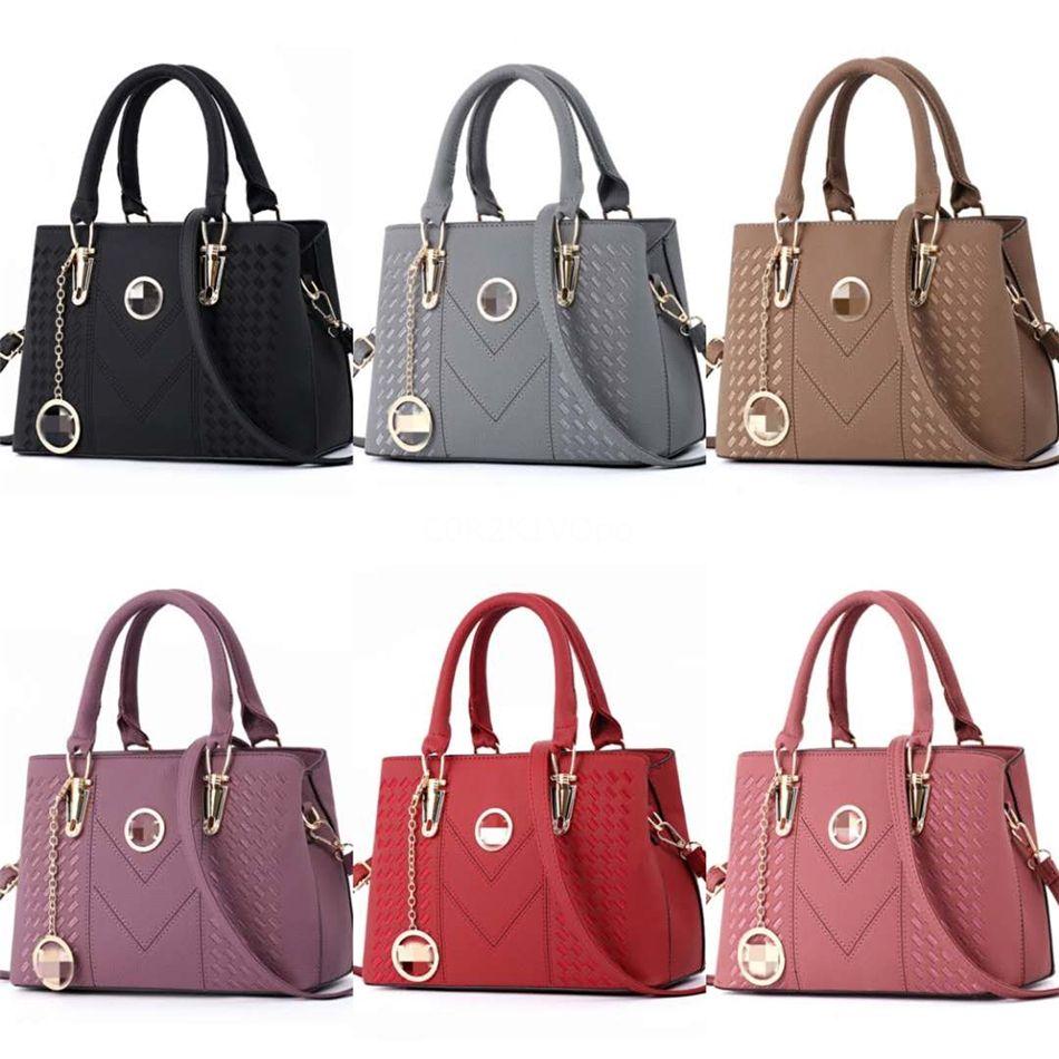 2020 Yeni Kadın Pu Deri Omuz Çanta Tasarımcı çanta Cüzdan Moda Marka Messenger Çanta Totes Bayanlar Casual Crossbody Çanta # 958