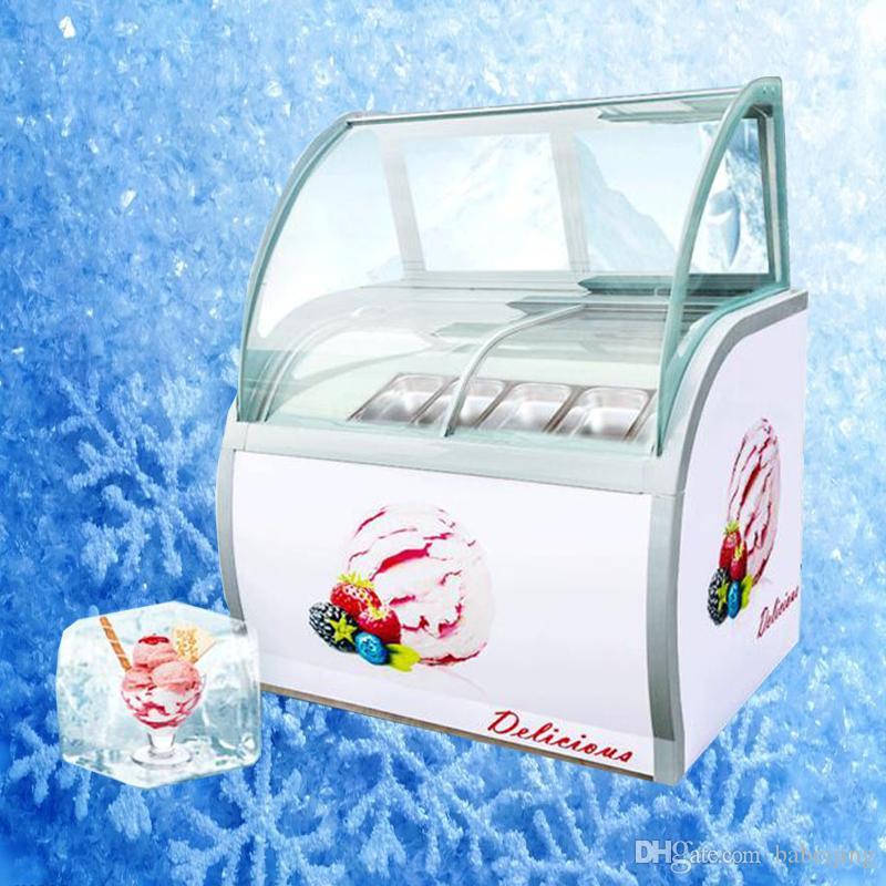 200W dur crème glacée vitrine crème glacée armoire représenterez congélateur vitrine commerciale