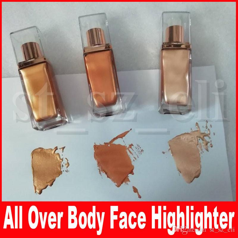 Beauty Makeup All Over Body Face Highlighter Intense Shine Long Lasting Bronzers & Highlighters Liquid Glow 3 Colors