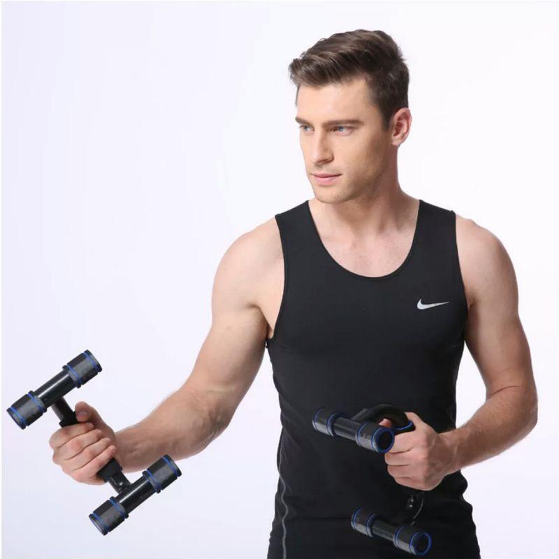 2pcs / set Pushup Levante Foam Handle plastic Up barras de apoio Bracket Pushup fitness exercício Dispositivo