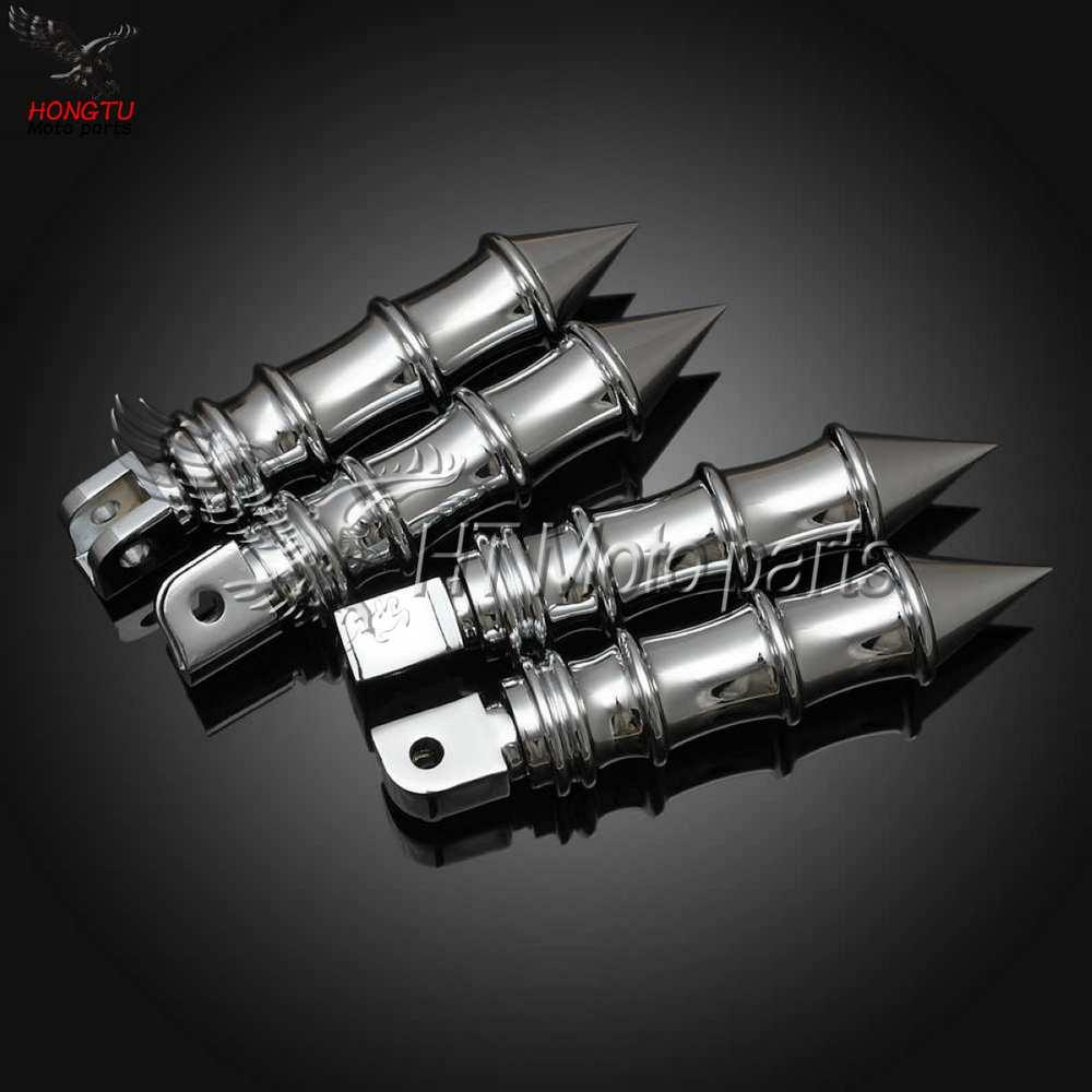 Motorcycle Front Rear Footrests Foot pegs For VLX 400 600 Steed 400 600 VLX400 VLX600