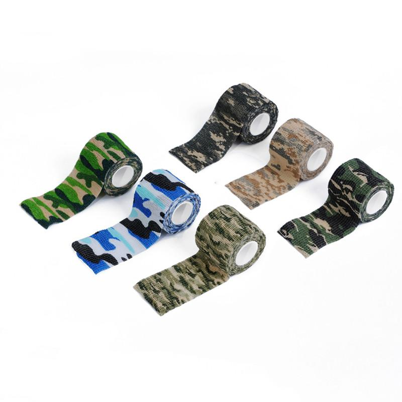 Military Camouflage Adhesive Tape Security Protection Waterproof Elastic Self Adhesive Medical Elastic Bandage First Aid Kit Gun (6)