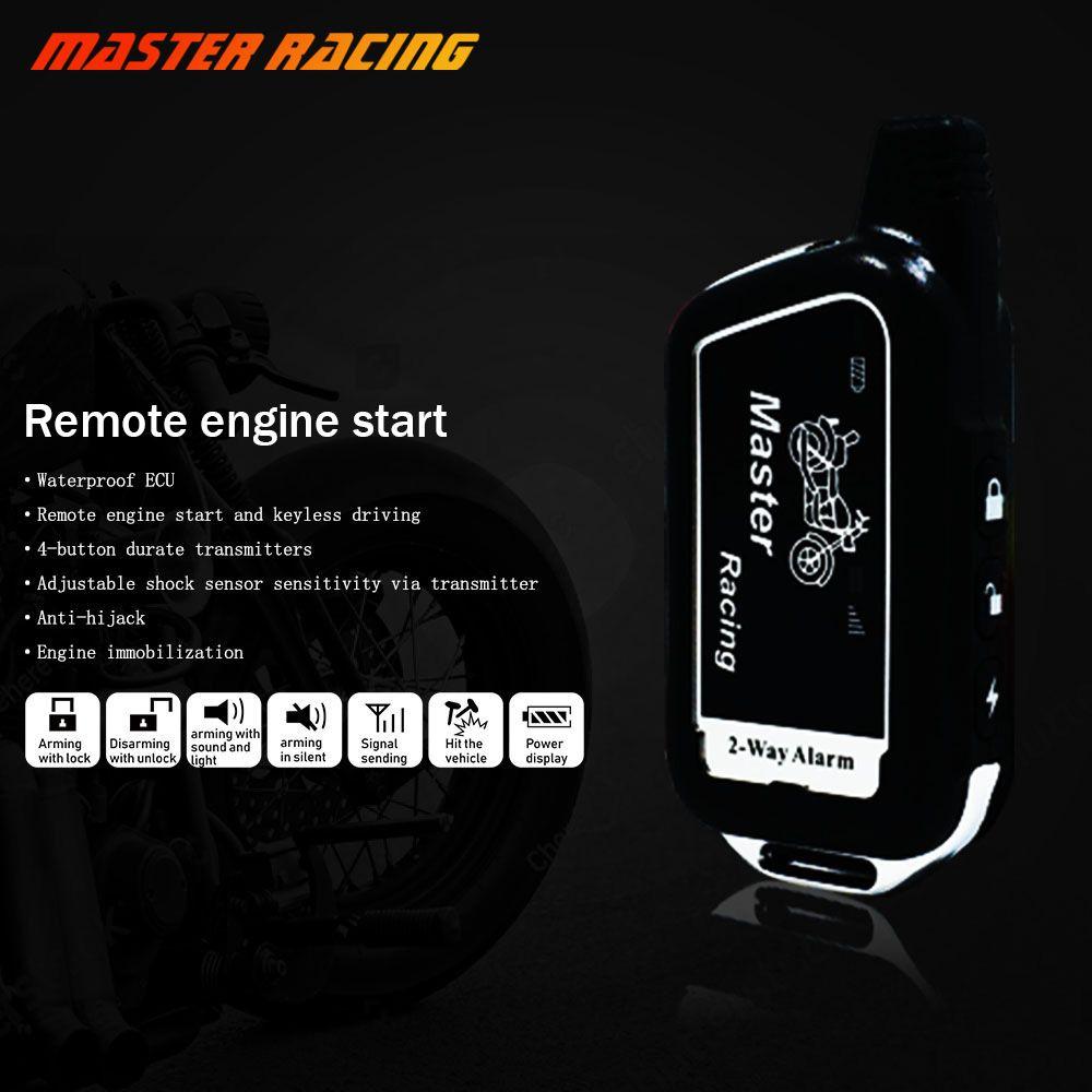 Universal 2 Way Motorcycle Alarm System alarma moto Remote Engine Control Key Fob Anti-theft Two Way Security Alarm Motor 125db