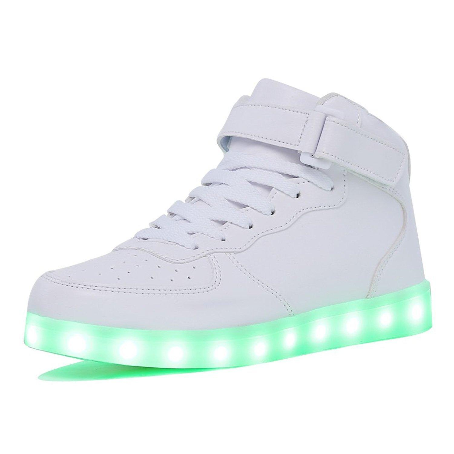 Kriativ Adult&kids Boy And Girl's High Top Led Light Up Shoes Glowing Sneakers Luminous Sole Sneakers For Women&men Y190523