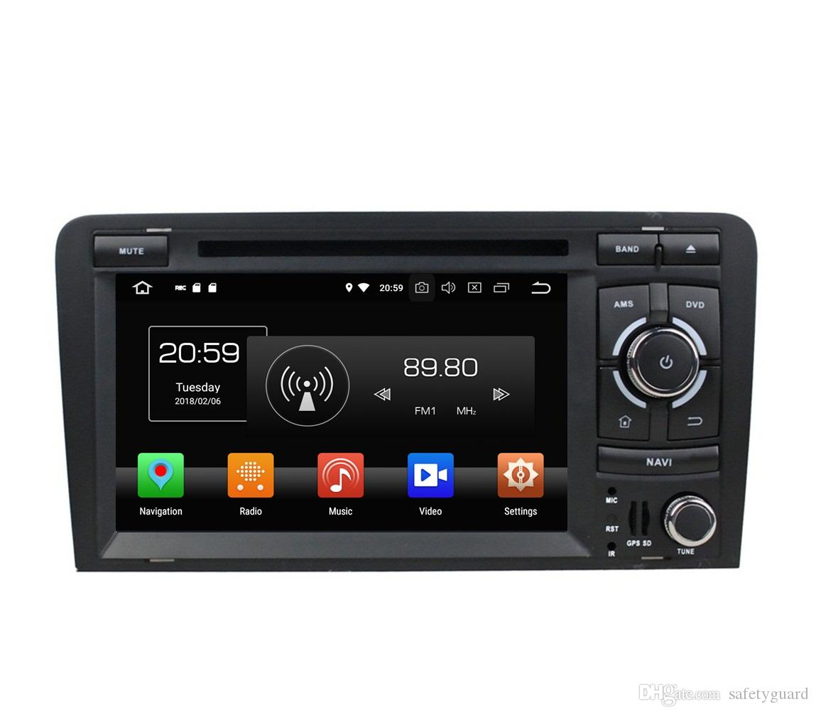 """4GB RAM 64GB ROM Octa Core 2 din 7"""" Android 8.0 Car DVD Player for Audi A3 S3 RS3 2003-2011 RadioGPS 4G WIFI Bluetooth USB Mirror link"""