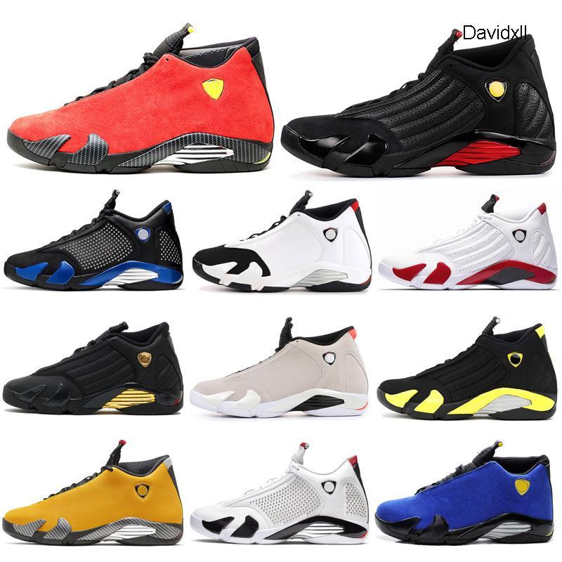 2020 nuovi pattini di pallacanestro 14s Red Varsity Reali esterna 14 Moda Uomo di sport atletici scarpe da tennis Thunder Università Mens Trainer Dimensione 7-13